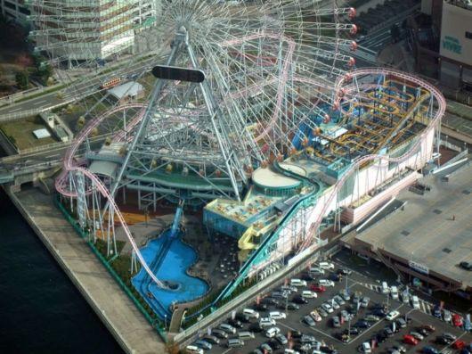 Vanish Roller Coaster In Yokohama, Japan
