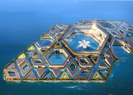 Futuristic Floating City In China