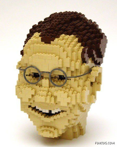 Amazing Lego Face Art