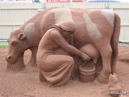 Sand Sculpture Art By Prince Edward Island, Canada