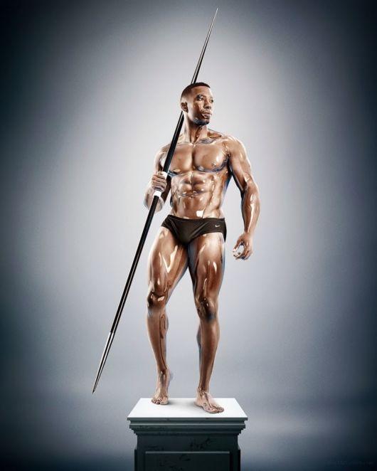 Amazing Sculpture Athletes Tim Tadder And Cristian Girott