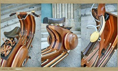 Vespa Daniela: The Wooden Scooter