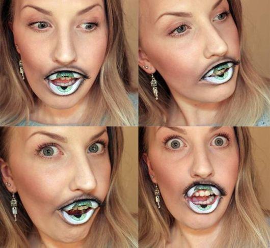 Crazy Lip Makeup Looks Like A Hungry Eye