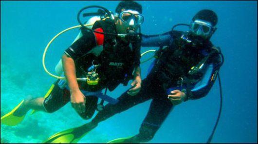 Crazy Underwater Meeting In Maldives