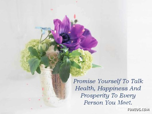 Promise Yourself For A Happy Life