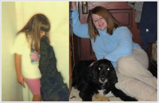 Animals With Their Owners Then And Now