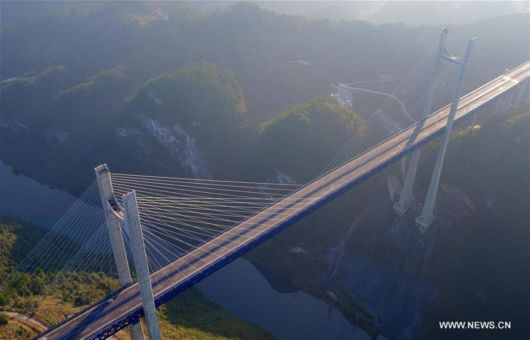 Bridges Seen On Newly-Built Enshi-Qianjiang Highway In Hubei, China