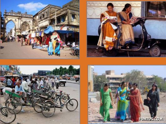 The Streets And People Of India