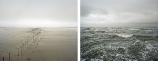 Identical Portraits At High And Low Tide