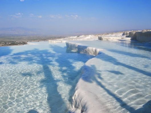 Natural Terraces And Pools Of Pamukkale In Turkey