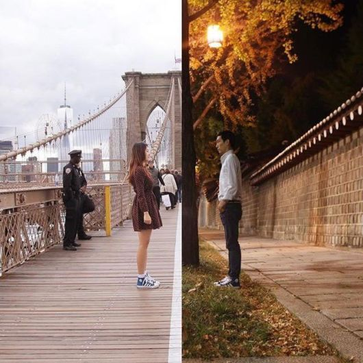 Long Distance Couple Stays Connected With Creative Photo Project