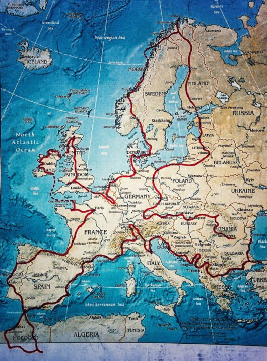 28000Kms Trip Around Europe