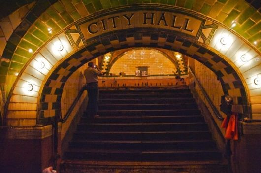 City Hall Subway Station In New York