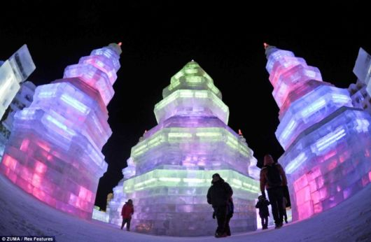 Beautiful Ice Castles In China