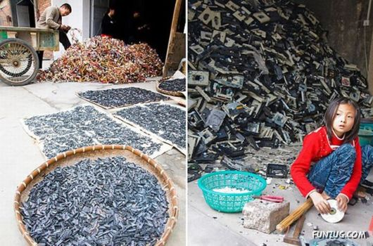 A Town Of Electronic Waste In China