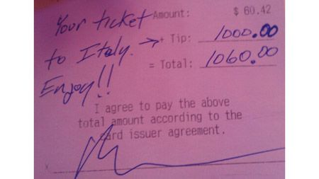 Most Generous Tips in the World
