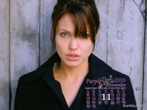 Click to Enlarge - Angelina Jolie Calendar 2009