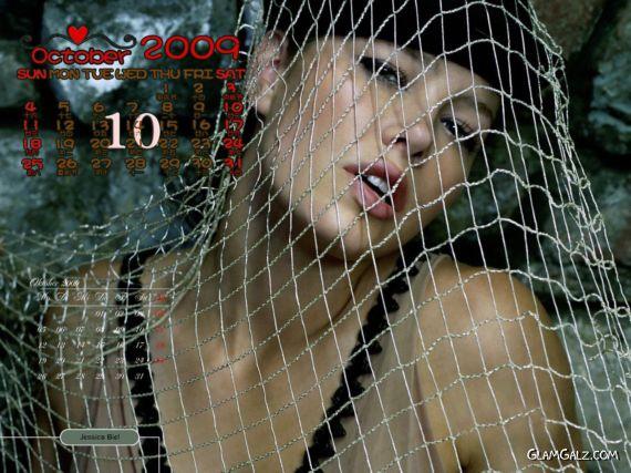 Click to Enlarge - Jessica Biel Exclusive 2009 Calendar