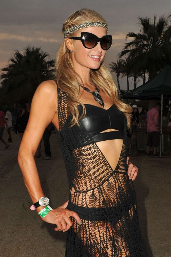 Paris Hilton At Coachella Valley Music And Arts Festival