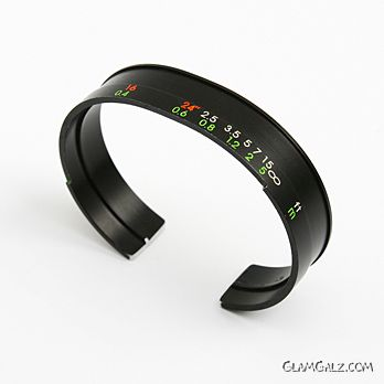 Vision Bracelets Made from Discarded Camera Lenses