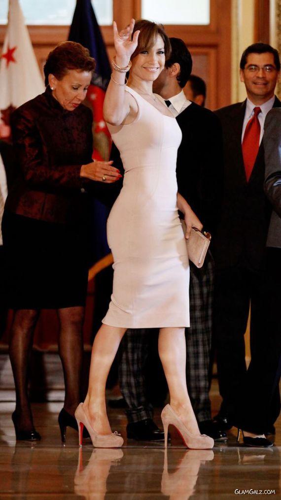 Jennifer Lopez Candids at Capitol Hill