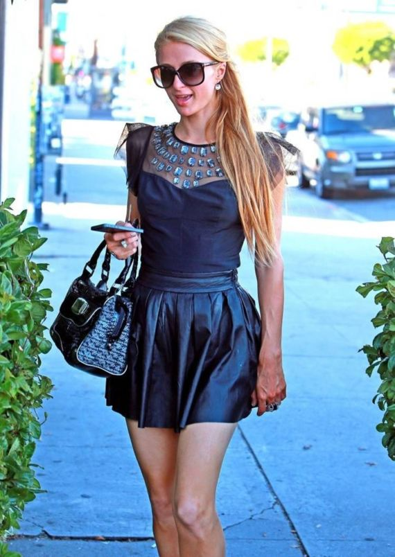 Paris Hilton Walking In West Hollywood