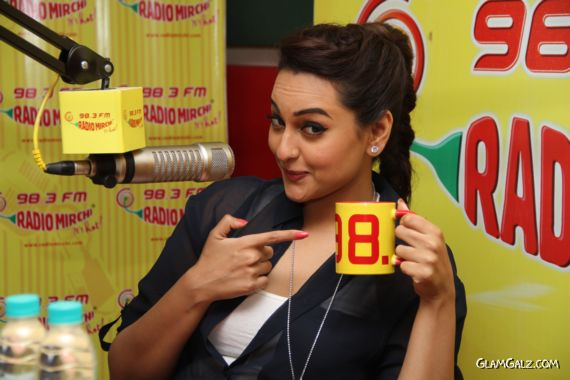 Gorgeous Sonakshi At Radio Mirchi Fm Studio