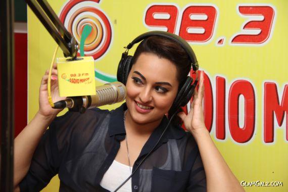 Gorgeous Sonakshi At Radio Mirchi Fm Studio