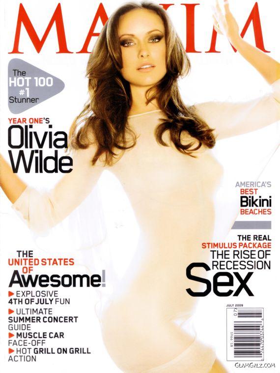 Olivia Wilde Exclusively on Maxim Magazine