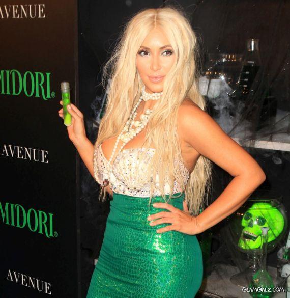 Miss Kardashian At 2nd Annual Midori Green Halloween Party