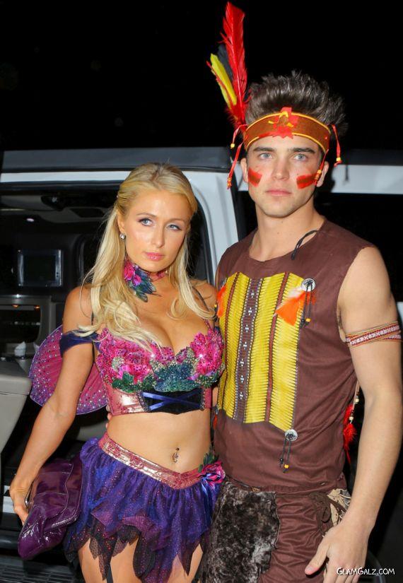 Paris Hilton At 2nd Halloween Party