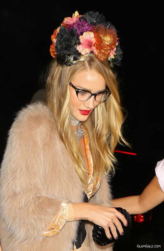 Rosie Huntington-Whiteley At Halloween Party