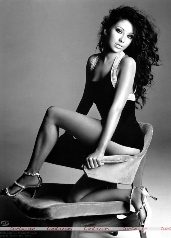 Christina Aguilera Black & White Stunning Photography
