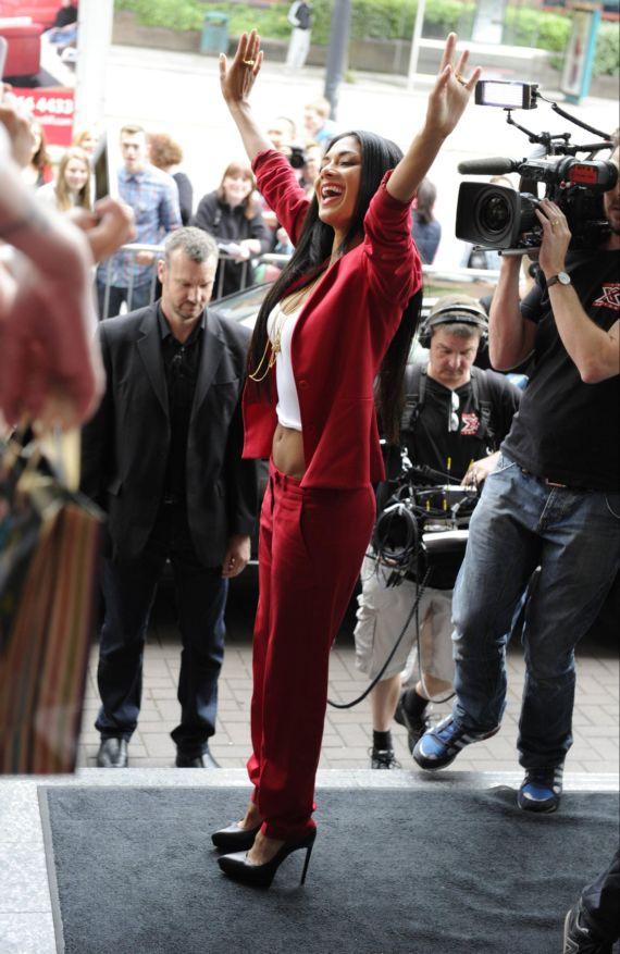 Stylish Nicole Scherzinger At Cardiff X Factor Auditions