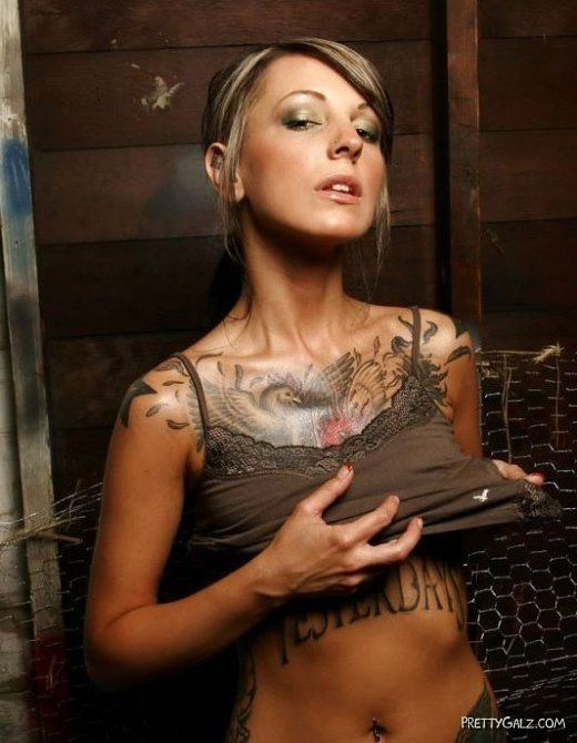 Hot Galz Displaying Their Tattoos