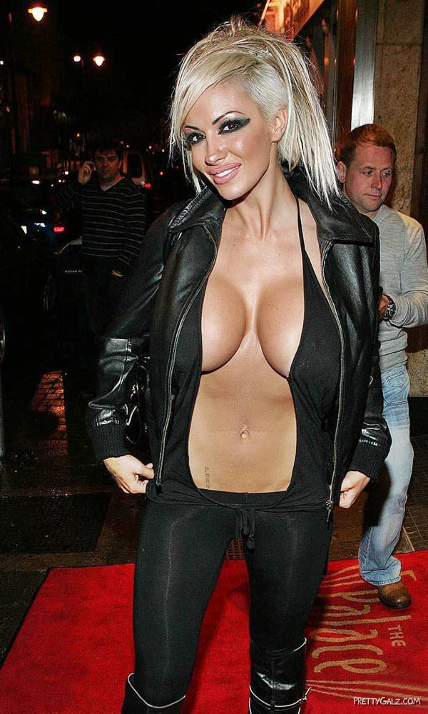 Jodie Marsh Shows off her Curves at Palace Night Club