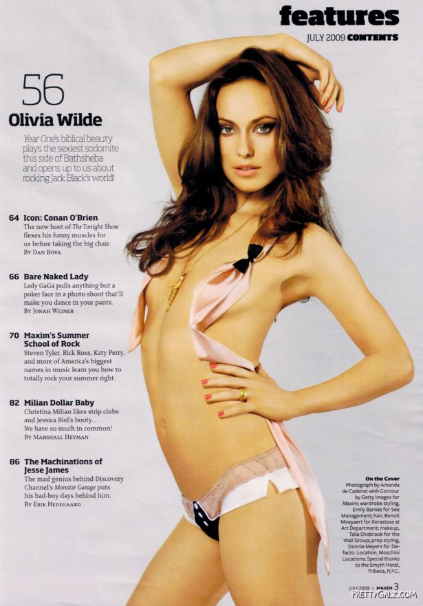 Olivia Wilde Exclusively on Maxim Magazine