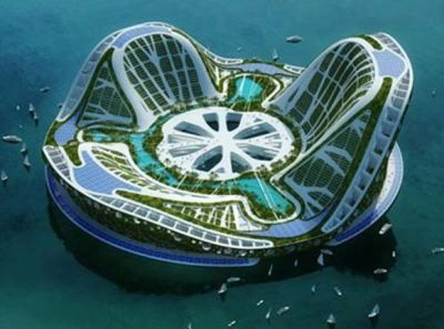 Lilypad : Floating, Eco, Refugees Architecture