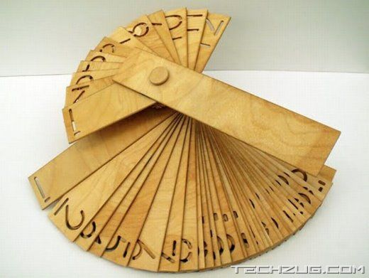 Unusual Wooden Office Calendar