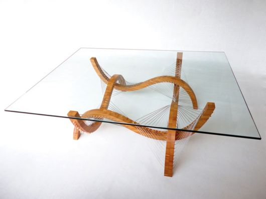 Pieces Of Furniture Held Together by Wires