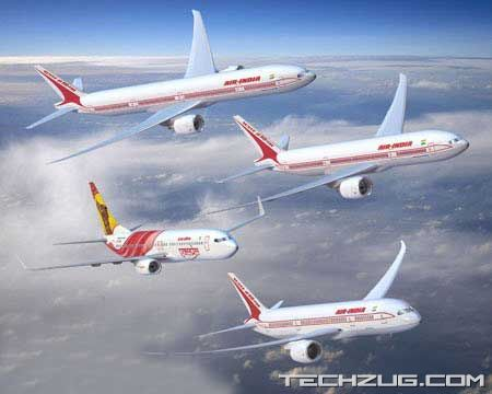 Air India Boeing and Airbus Pictures
